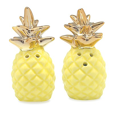 Porcelain Yellow Pineapple Salt & Pepper Shaker