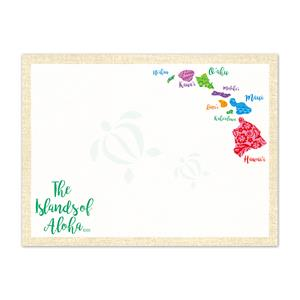 Islands of Aloha Rectangular Stick 'N Notes