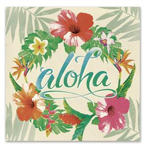 Aloha Floral Cocktail Napkins
