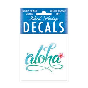 Decal Square, Aloha Floral