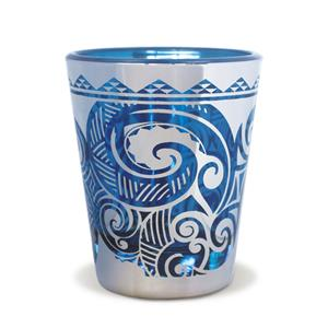 Foil Short Shot Glass, Tribal Swirl