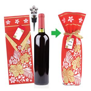 Plumeria Bottle of Wine Gift Kits