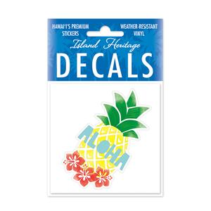 Decal Small Oblong, Pineapple Aloha
