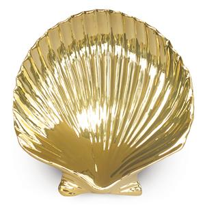 Porcelain Gold Shell Plate