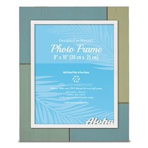 Painted Wood 8x10 Frame, Aloha (V)