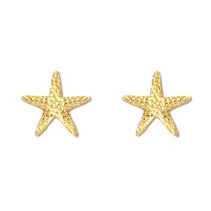 Charm Earrings 1-pr, Starfish - Gold