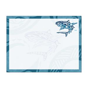 Rect. Aloha Stick'n Notes 50-sht, Tribal Shark