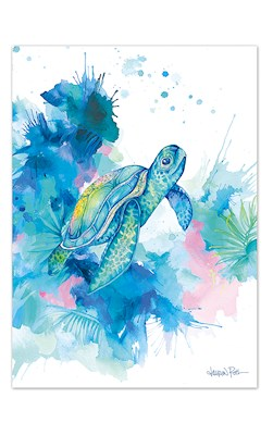 Honu Dream Blank Greeting Card by Lauren Roth