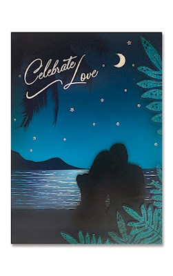 Designer Art Greeting Card, Midnight Couple