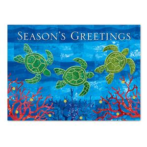 12-ct Box Xmas, Mele Honu Greetings