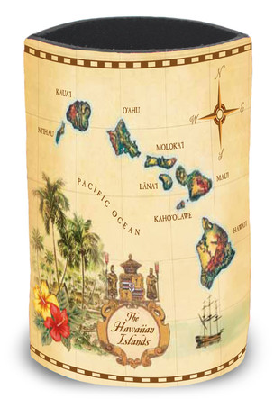 Island Can Cooler Islands of Hawaii Tan