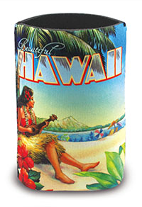 Island Can Cooler Vintage Hawaii