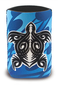 Island Can Cooler Tribal Honu