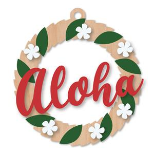 Wooden Ornament, Elegant Aloha