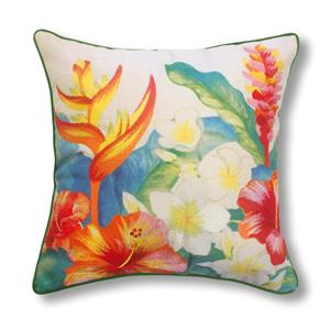 Island Garden Heliconia Pillow 18 X 18 Accent Pillow (Filled)