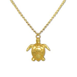 Charm Necklace, Honu - Gold