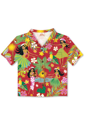 8-Ct Box Aloha Shirt, Island Hula Honeys Red