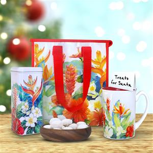 Island Garden Mug & Tote with Macadamia Nut Tea Cookies Gift Set
