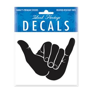 Decal Small Oblong, Shaka Black