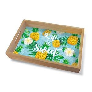Coastal Wood Tray Large, Life Is Sweet
