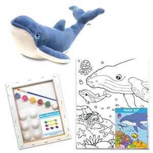 Humpback Whale Canvas + Plush Gift Set