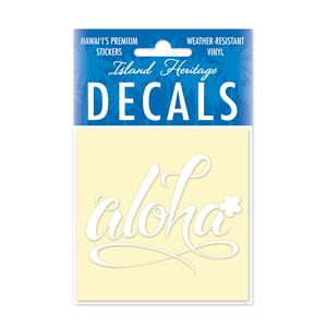 Decal Square, Aloha Floral White