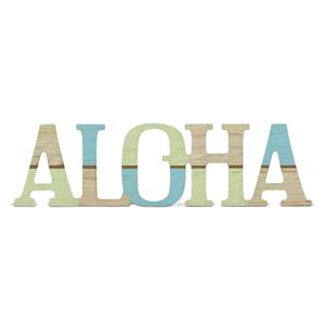 Wooden Laser-Cut Sign, Aloha