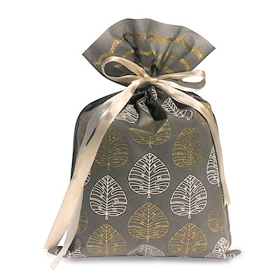 DRAWSTRING GIFT BAG: Modern Monstera – Large