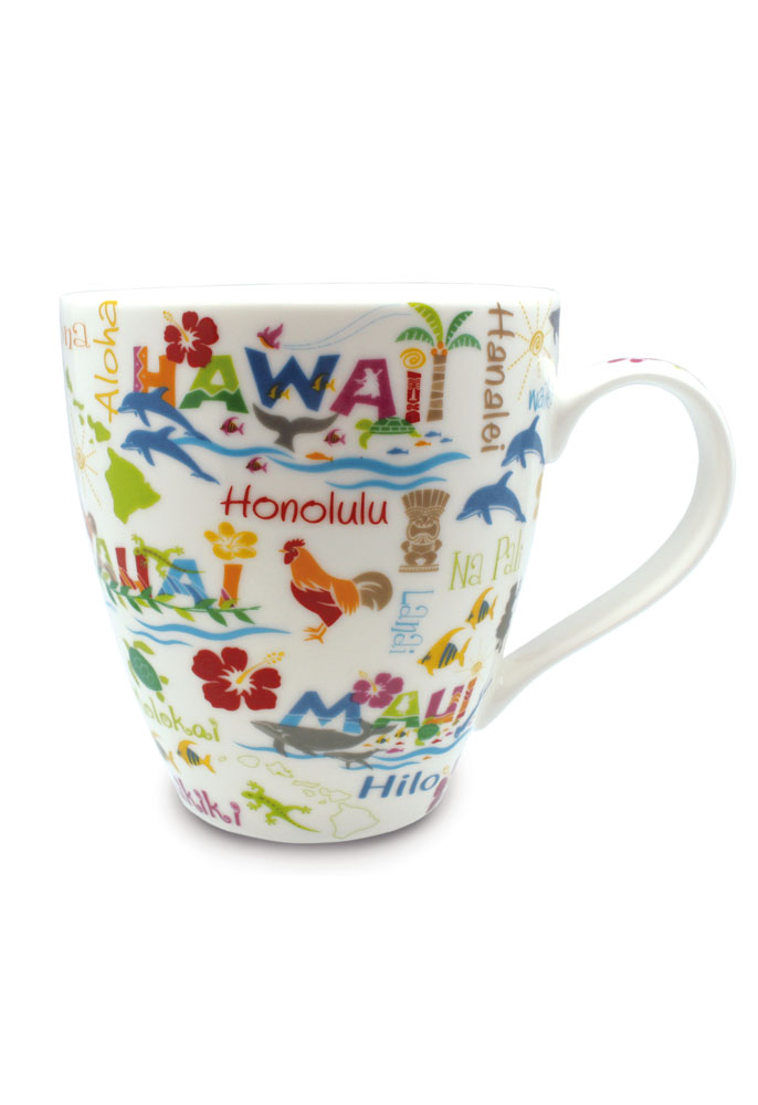 18 oz. U-shape Mug Hawaiian Adventures
