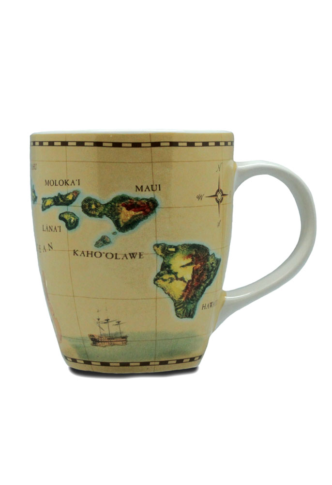 11 oz. U-Shape Mug Islands of Hawaii - Tan