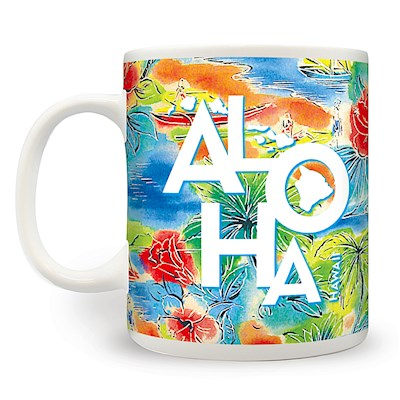 14 oz. Mug Tropical Aloha