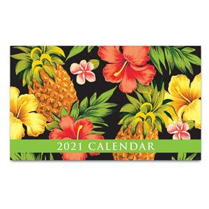 Tropical Pineapple - Black 2021 Pocket Calendar