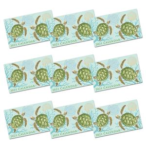 2021 Pocket Calendar, Honu Voyage - Aqua (Case of 24)