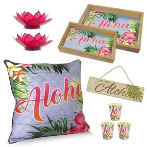 Aloha Palm Living Room Décor' Set
