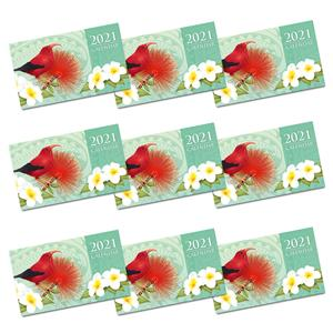 2021 Pocket Calendar, 'I'iwi & Floral Blossom (Case of 24)