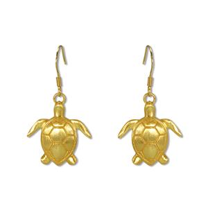 Charm Earrings 1-pr, Honu - Gold
