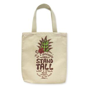 Woven Tote, Be a Pineapple (Green Zipper)