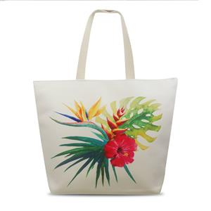 Tropical Beach Tote, Bird of Paradise