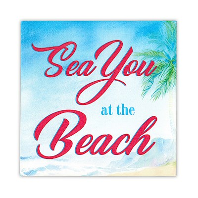 Wall Art Canvas Print - Sea You at the Beach