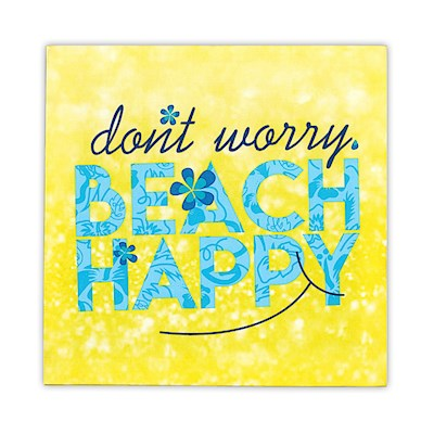 Wall Art Canvas Print - Beach Happy