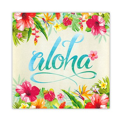 Wall Art Canvas Print - Aloha Floral