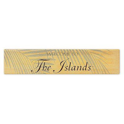 Wall Art Canvas Print 15x3, Welcome to the Islands