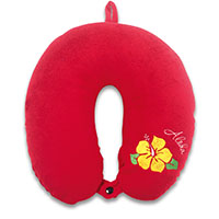 Velvet Neck Pillow - Aloha Hibiscus