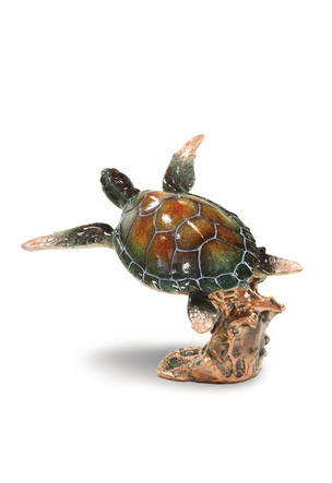 Marine Life Figurine, Swimming Honu