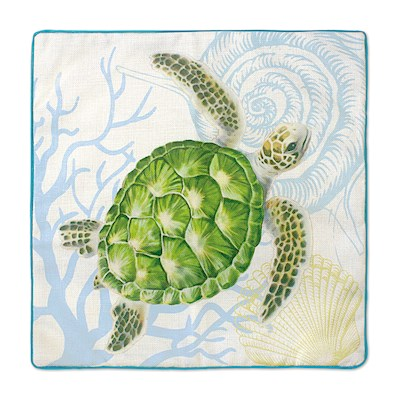 Coastal Honu Voyage Pillow Cover