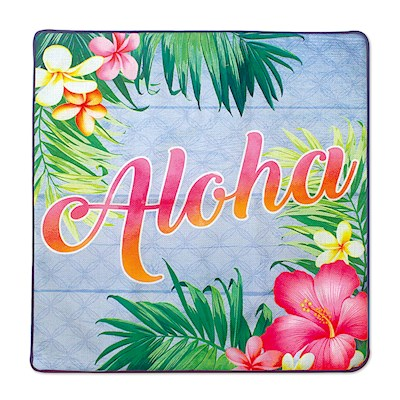 Coastal Pillow Cover, Aloha Palm