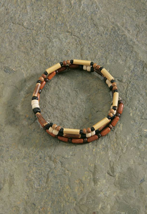 Wood Bracelet Wrap - Medium Beads