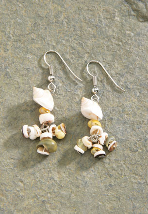Shell Earrings 1-pr, A4095
