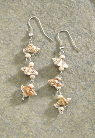 Shell Earrings 1-pr, A4619