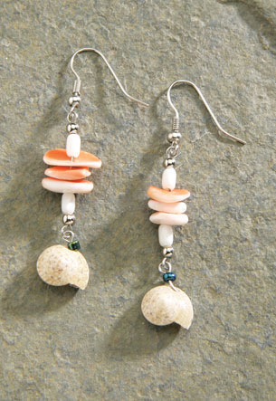 Shell Earrings 1-pr, A4618